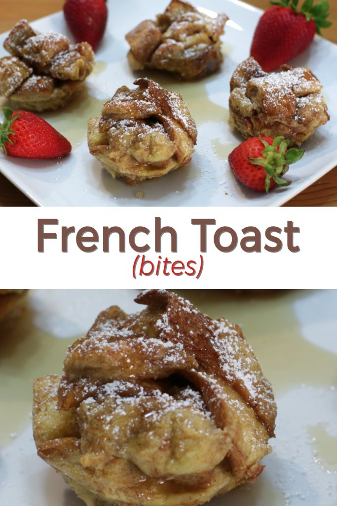 French Toast bites pin for Pinterest