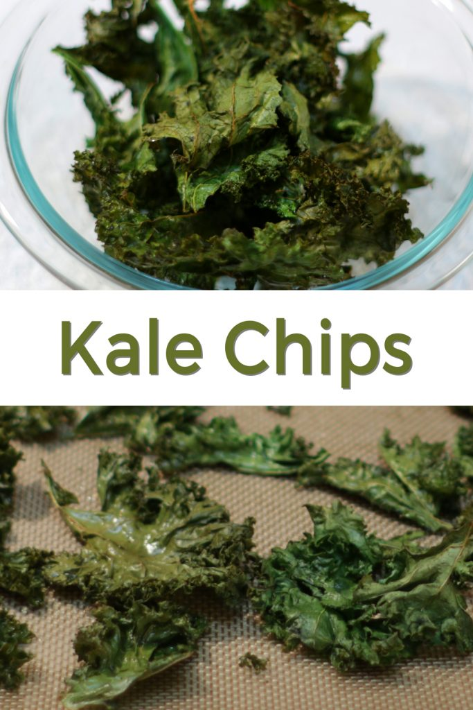 Kale chips pin for Pinterest