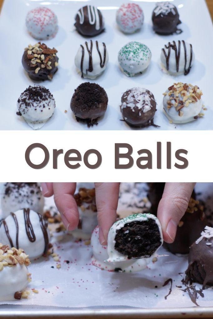 Oreo balls pin for Pinterest
