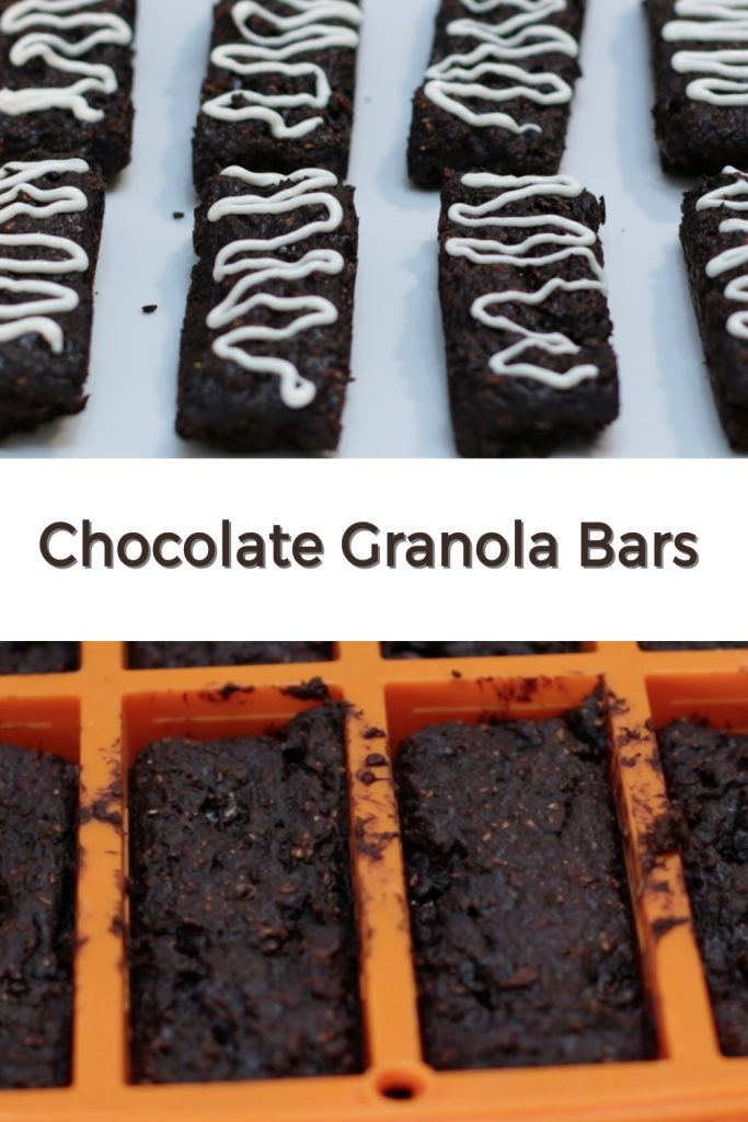 Chocolate Granola Bars pin for Pinterest