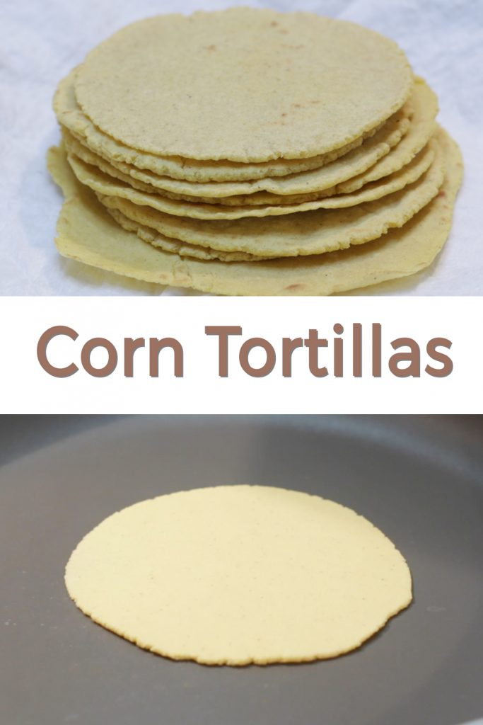 Corn tortillas pin for Pinterest.