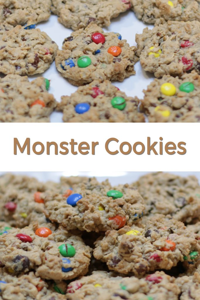 Monster cookies pin for Pinterest