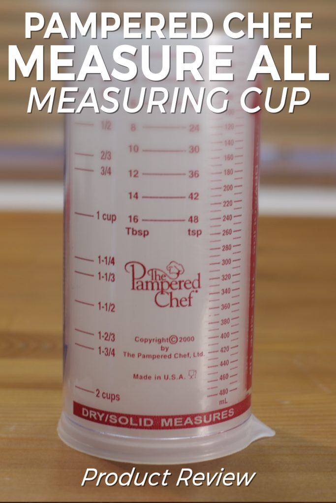 Pampered Chef Measure All Measuring Cup review pin for Pinterest