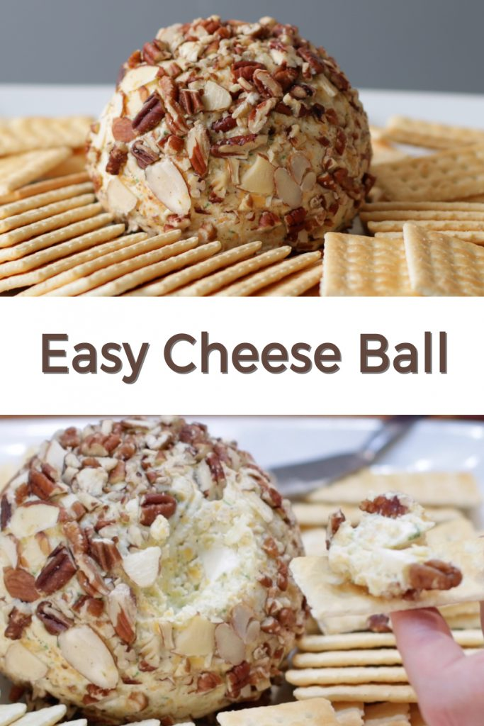 Easy Cheese Ball pin for Pinterest