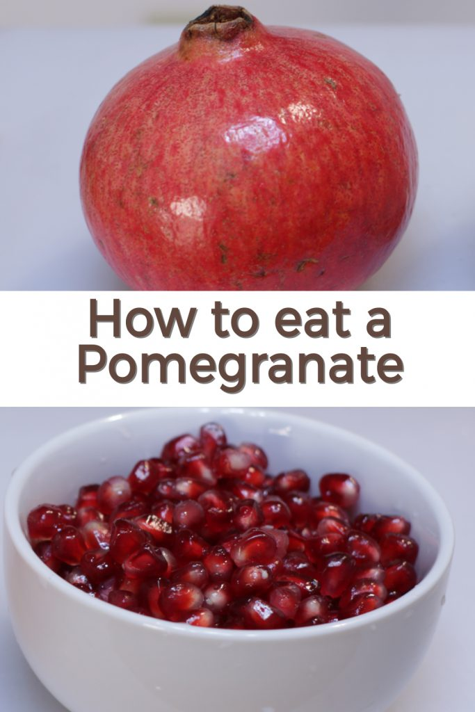 how to eat a pomegranate pin for Pinterest