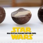 star wars death star peanut butter cups on a white table.