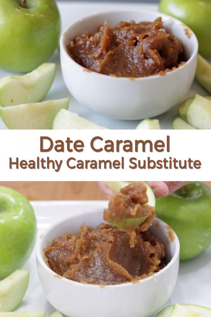 Date Caramel healthy caramel substitute pin for Pinterest