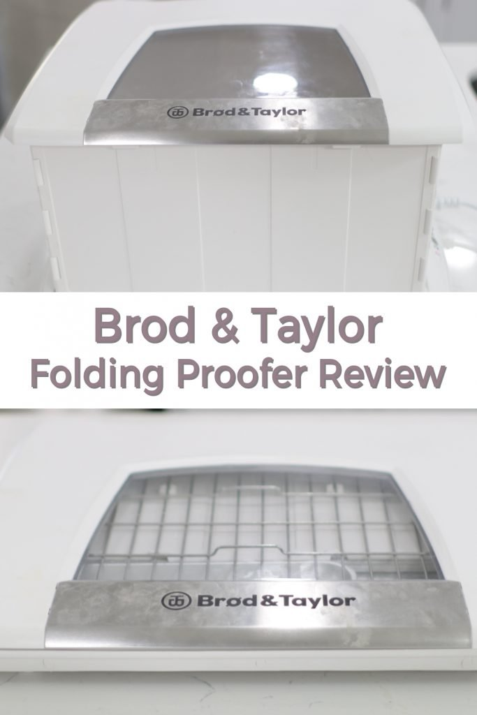 Brod and Taylor folding proofer review pin for Pinterest