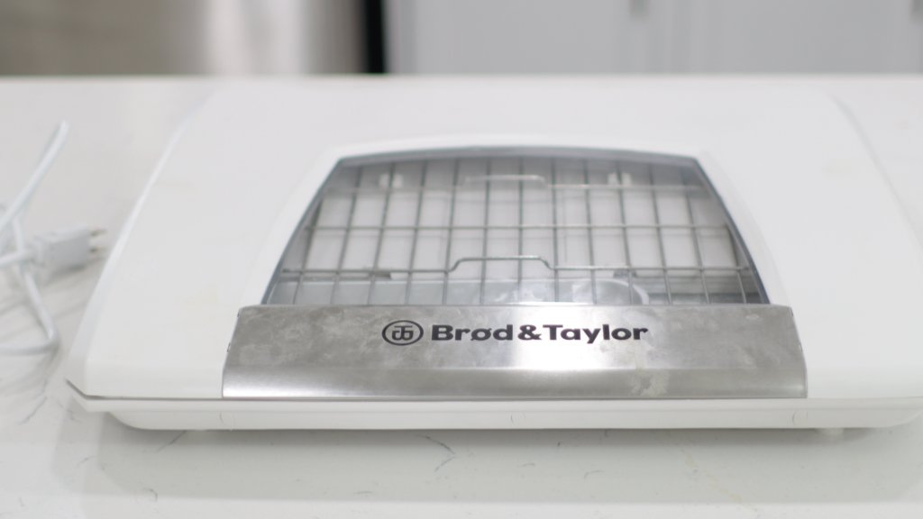 Brod and Taylor folding proofer on a counter.
