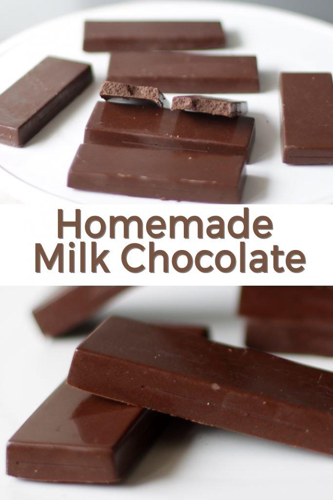 Homemade milk chocolate pin for Pinterest