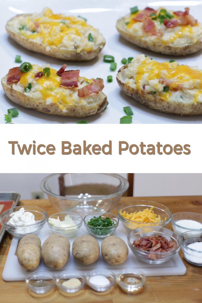 Twice baked potatoes pin for Pinterest
