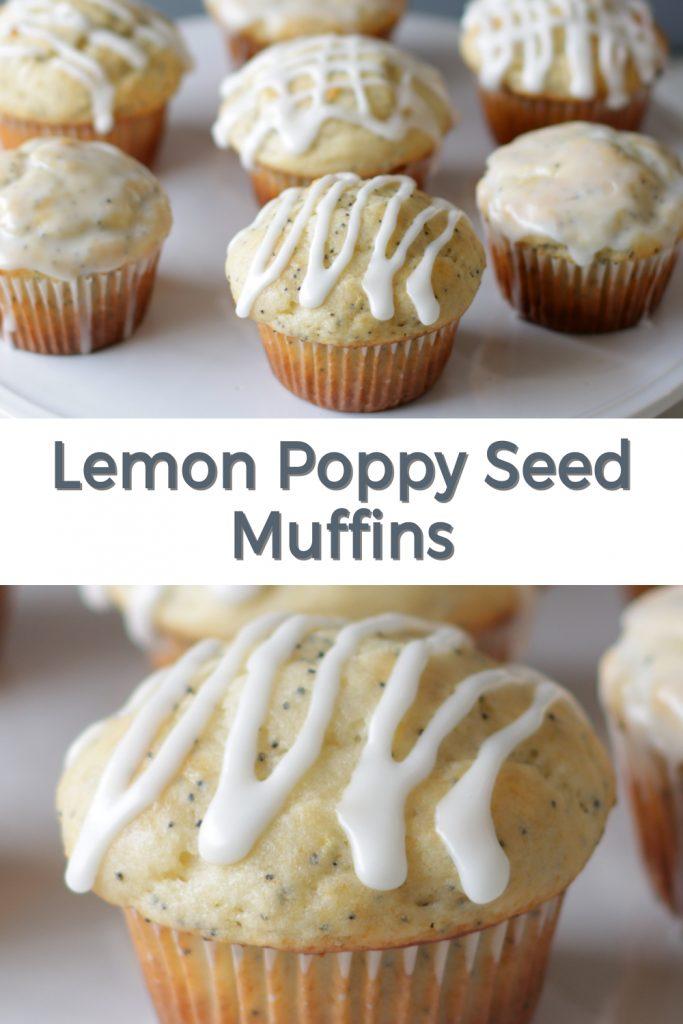 Lemon Poppy Seed Muffins pin for Pinterest
