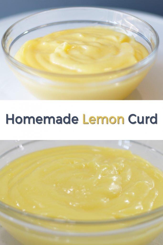 Homemade lemon curd pin for Pinterest