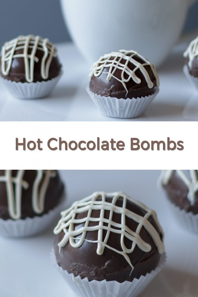 Hot chocolate bombs pin for Pinterest