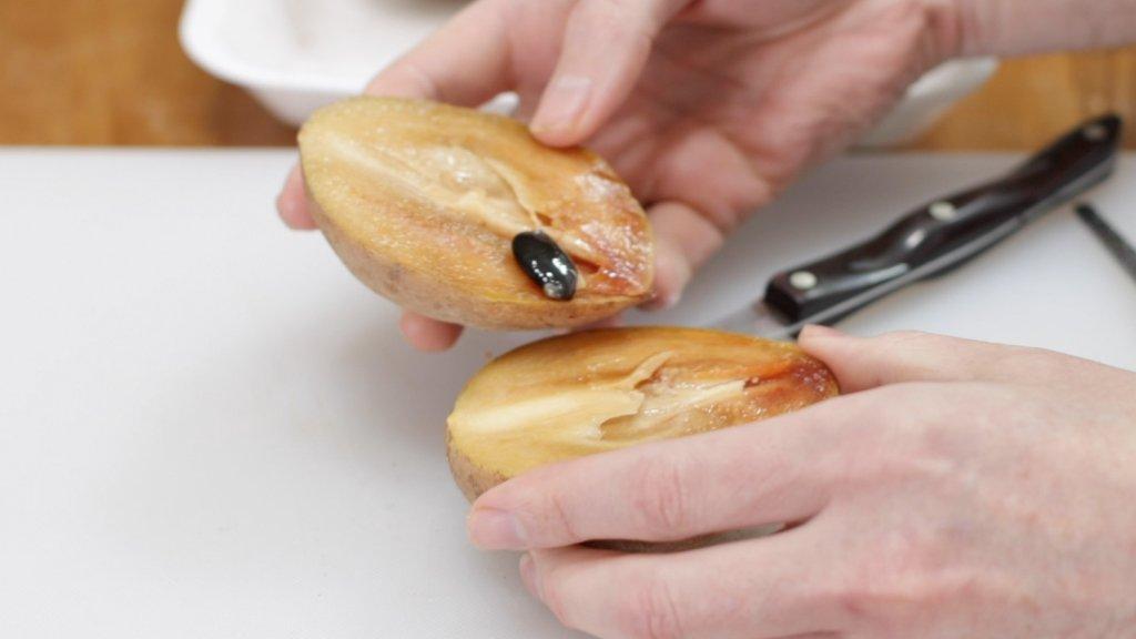 inside of a sapodilla