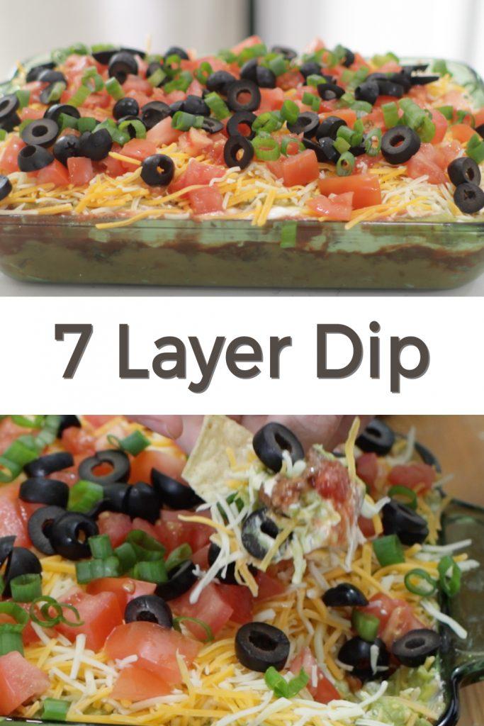 7 layer dip pin for Pinterest