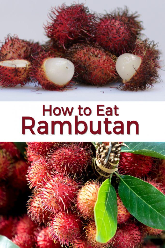 How to eat Rambutan pin for Pinterest