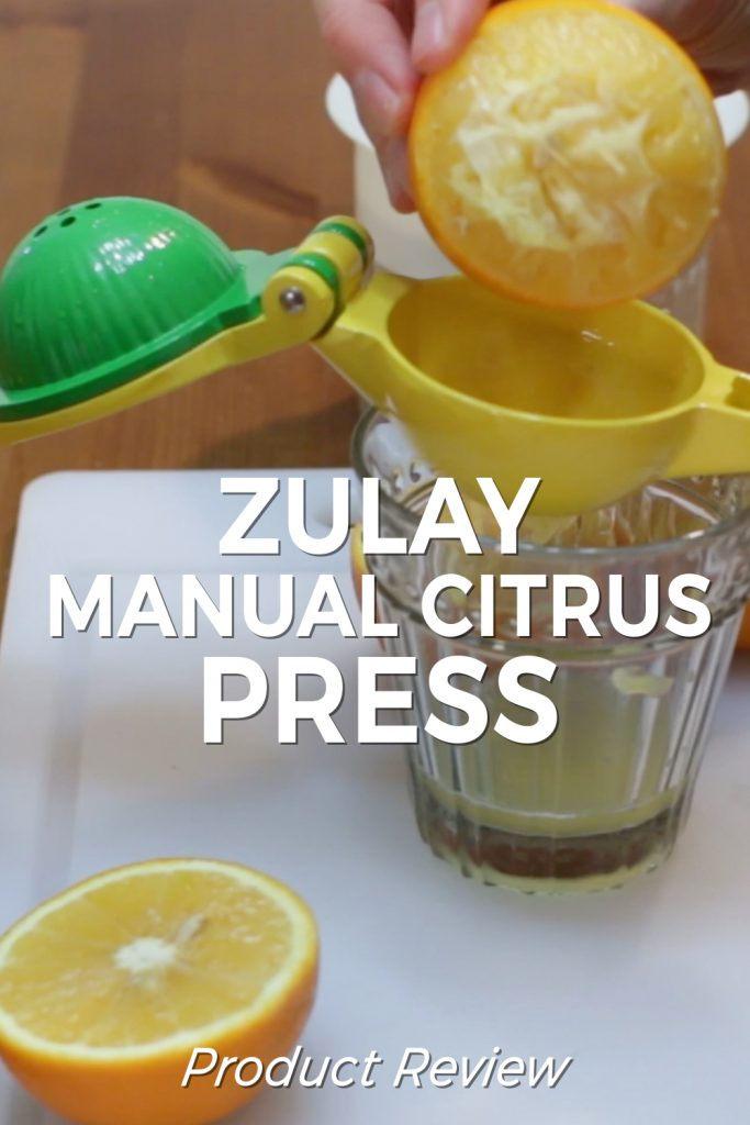 Zulay manual citrus press juicer product review pin for Pinterest